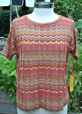 RUBY RD. Sweater Orange/Brown Multi Size Small NWT Retail $48
