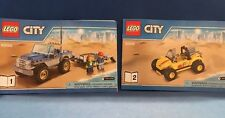 LEGO CITY 60082 Dune Buggy & Trailer Instruction Manuals Only Books 1-2