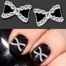 3D Nail Art Decoration Tips Glitter Crystal Pretty Bow Knot Alloy Women Jewelry