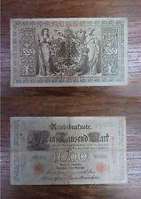 Billet Reichbanknote 1000 Mark Eintausend BERLIN 1910 GERMANY DEUTSCHLAND (2)