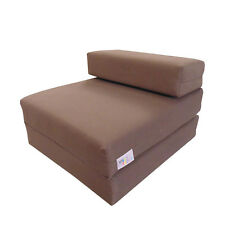 MyLayabout Single Z Bed/Fold Out Spare guest Bed Sofabed/Chair/Futon | Brown