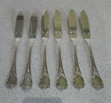 SET of 6 Christofle MARLY Silver-plated Fish Knives FRANCE