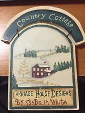 CHRISTMAS PLAQUE WOODEN COUNTRY COTTAGE BY TSABELIA WHITE