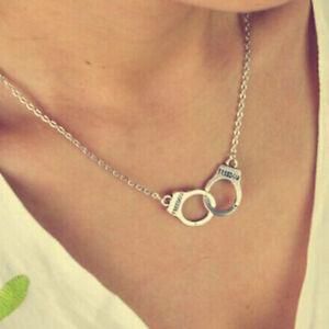 Damen Halskette Handschellen Kette Choker Anhänger Modeschmuck Geschenk N*.