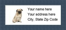 """Pug Return Address Labels  - Personalized """"BUY 3 GET ONE FREE"""""""
