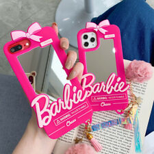 Hot 3D Cute Barbie Mirror Pink Soft Phone Case Cover For iPhone11Pro 6 7 8+ XR X