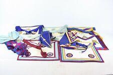 12 x Assorted Vintage Masonic Regalia Inc. Aprons, Collars, Jewels, Mark Master