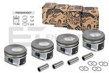 4x PISTÓN KIT Ø 71,50mm pm006650 Skoda Vw Audi Seat 1,2TSI EXCESO + 0,50mm