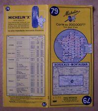 carte MICHELIN 79 BORDEAUX - MONTAUBAN 1963-2