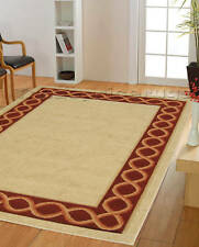 NEW EXTRA X LARGE BEIGE CREAM RED CLASSIC RUG 200x285cm