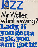 JUNE 1966 JAZZ JOURNAL vintage music magazine WHAT IS SWING