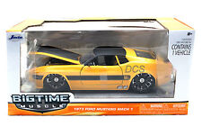 Jada 1973 Ford Mustang Mach 1 Yellow 1/24 New in Box Diecast Car 96764