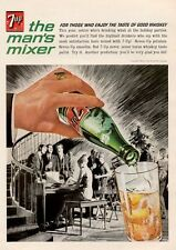1964 Seven 7 Up Singing around the Piano Vintage Bottle PRINT AD