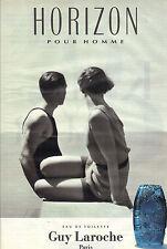 PUBLICITE ADVERTISING   1993    GUY LAROCHE  parfum HORIZON pour homme