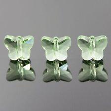 6pcs Swaro/vski  5x6x10mm Butterfly Crystal beads C fruit-green