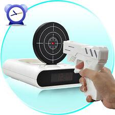 Shoot Stop Target Gun LED Digital Alarm Recordable Clock - Cool Tech Gadget