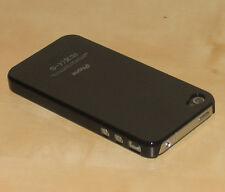 Negro Piel trasera dura funda para Apple Iphone 4g
