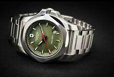 Victorinox Swiss Army INOX Green Dial Stainless Steel Watch Model No. 241725.1