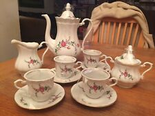 Walbrzych Poland AD1845 COFFEE TEA SET w/ Sugar Creamer Cups & Saucers