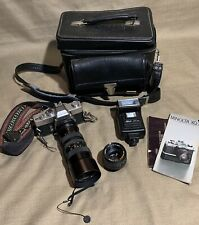 Minolta SRT 202 SLR, MC Rokkor X 50mm f1.4, Marsand Case, Instruction Guide