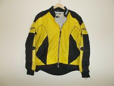 Yellow padded mesh with back reflective stripes Mens Teknic Jacket size 42 READ
