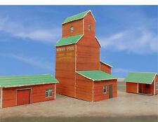 Z Scale Building - Grain Elevator Cover Stock Paper Kit Pre-Cut