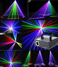 Laser Beam Line 3D Animation Effect RGB DMX Full Color DJ Bar StageLight 500mW