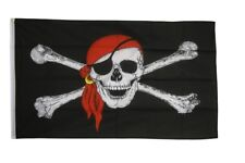 Pirat mit Kopftuch Hissflagge Piraten Fahnen Flaggen 60x90cm