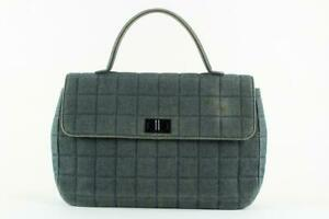 Chanel  Quilted Chocolate Bar Denim Top Handle Kelly Flap Reissue Bag 862463