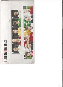 2013  ROYAL MAIL PRESENTATION PACK FOOTBALL HEROES MINT DECIMAL STAMPS