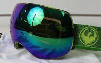 New 2018 Dragon X2 Ski Snowboard Goggles Mill - Lumalens Green Ion + Bonus Lens