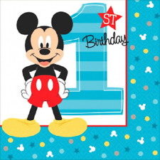 Disney Mickey Mouse Fun to be One 1st Birthday Small Beverage Napkins (16)