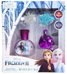 Disney Frozen 2 Anna Fragrance & Hair Set Spray Perfume Bottle + 2 Hair Clips