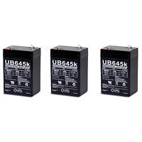 UPG 6V 4.5AH Replaces cp0660 gp645 lcr6v4p hk-3fm4.5 wp4-6 with charger