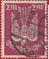 DEUTSCHES REICH (952) MI NR 216 a GESTEMPELT (  GEPRÜFT) INFLA Weinbach