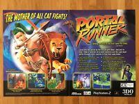 Portal Runner PS2 Playstation 2 2001 Vintage Poster Ad Art Promo Army Men Rare