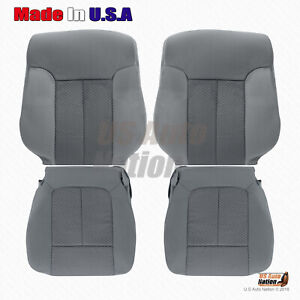 2011 - 2014 Ford F150 Front Driver Passenger Cloth Replacement Seat Cover Gray
