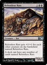RELENTLESS RATS M11 Magic 2011 MTG Black Creature — Rat Unc