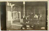 RPPC 1914 Old Antique Postcard Posted Coffeyville Kansas KS Family Porch