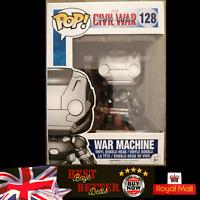 Funko Pop WAR MACHINE 128 Marvel Civil War Captain America Vinyl Figure NEW