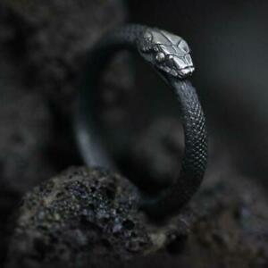 New Mukuro Original Design Snake Mouth Ring Ouroboros Ring Stainless Steel Gift