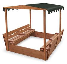 Badger Basket Covered Convertible Cedar Sandbox w/Canopy & 2 Bench Seats 99895