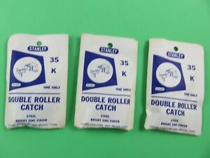 DOUBLE ROLLER CATCH (21Total) For Cabinets STANLEY 35 K Steel Bright Zinc Finish
