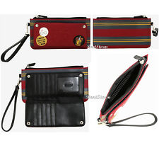 Harry Potter Hogwarts Snap Front Wristlet Wallet Striped Gryffindor Purse NWT