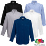 Fruit Of The Loom MEN'S OXFORD SHIRT LONG SLEEVE POCKET BUTTON DOWN COLLAR S-3XL