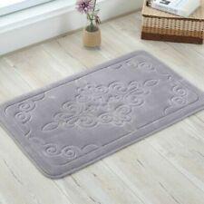 Cashmere Bathroom Home Carpet Non-Slip Absorbent Geometric Microfiber Toilet Rug