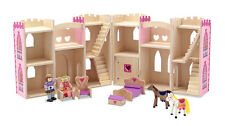 Childs Wooden Toy Castle Figures Horses Furniture - Melissa & Doug - Dolls House