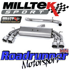 "Milltek Audi S3 8v 3-Door RACE Exhaust 3"" NON VALVED Non Res Polish GT SSXAU523"
