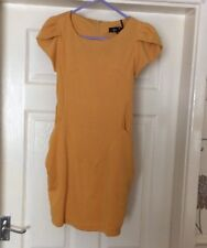 Ladies Mustard Dress Size S (Pit To Pit 14 Inches)