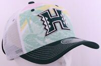 Hawaii Rainbow Warriors Green Tropical Zephyr Mesh Snapback Cap Hat OSFA